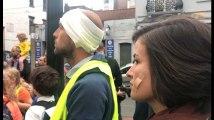 Schaerbeek: des manifestants se couchent à un carrefour contre l'insécurité routière