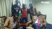 Propesa crack up Deputy President William Ruto during office visit_