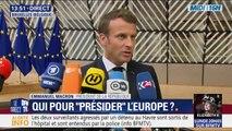 """Union Européenne: Emmanuel Macron soutiendra """"les personnes qui ont les compétences et partagent les ambitions"""" européennes"""