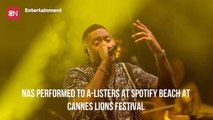 Nas Performs At Cannes Lions Festival