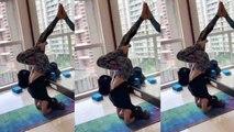 Mouni Roy's tough yoga aasan will you in shock; Watch video | FilmiBeat