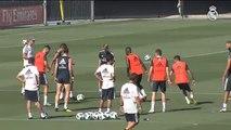 Último entrenamiento del Real Madrid antes de viajar a Tallin