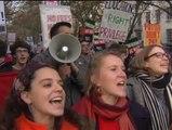 Masiva protesta en Londres por los recortes en educación