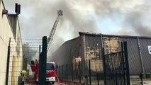 Vitrolles : un incendie dans la zone industrielle Anjoly