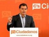 """Rivera: """"Le pedimos a PP y a PSOE que dejen de contentar a los separatistas y piensen en los demás catalanes y españoles"""""""