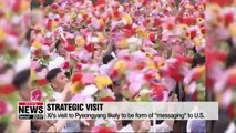 Can Xi's visit to Pyeongyang become bargaining chip against the U.S.?