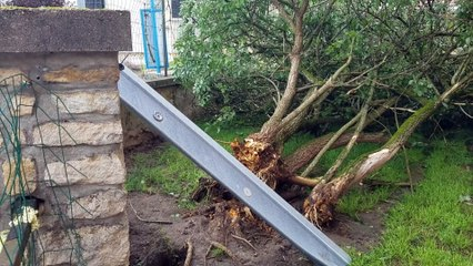 Gray-la-Ville sous le choc après de violents orages.