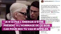 """Baptiste Giabiconi ne se remet pas de la mort de Karl Lagerfeld : """"Tu me manques"""""""