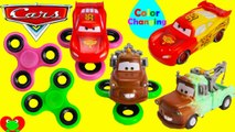 Disney Cars Movie Fidget Spinners with Color Changing Lightning McQueen and Mater