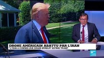 "Drone abattu par l'Iran :  Trump évoque ""une énorme erreur"""