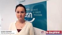 Caroline Coutout présente le bilan des actions de contrôle de l'Autorité de sûreté nucléaire dans la région Auvergne-Rhône-Alpes, pour l'année 2018.