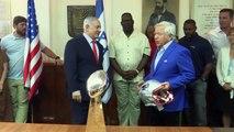 New England Patriots meet Israeli Prime Minister Benjamin Netanyahu