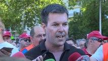 """Taxistas en huelga con """"fuerza"""" pero """"cansados"""" de la situación"""