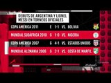 Primera derrota de Argentina en debut oficial con Messi | Adrenalina