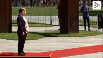 Angela Merkel shaking during an official act in Berlin