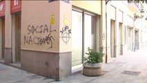 Pintadas nazis en la sede de Compromís de Valencia