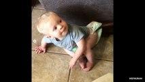 Joy-anna Duggar's Son Gideon Got His Diaper Stuck On A Reclining Chair And The Video Is Too Hilarious