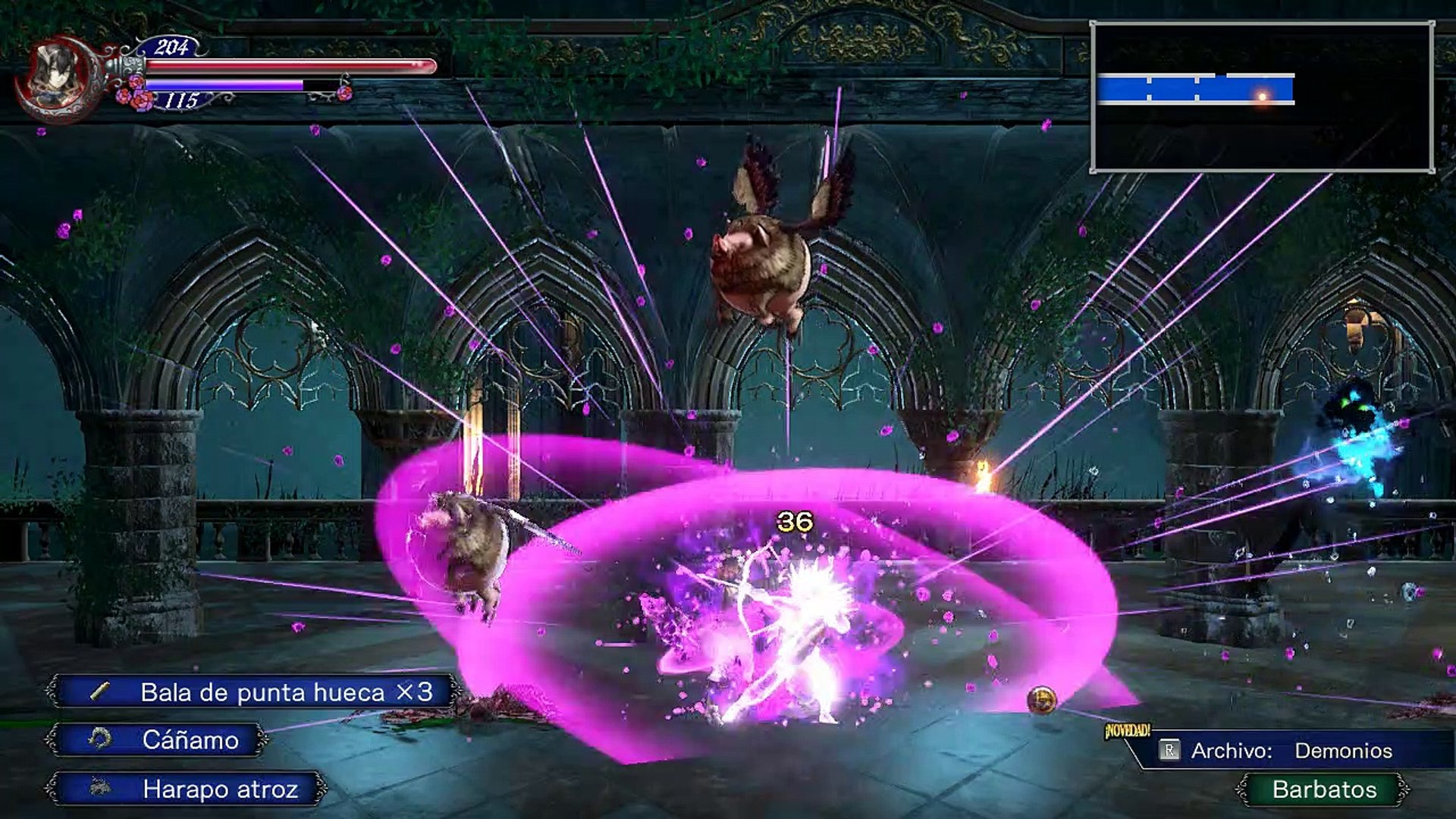 Bloodstained ROTN,Gameplay Español 3, Conociendo a Alfred y a Zangetsu