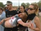 Una mujer herida durante los enfrentamientos entre manifestantes y vecinos de Tordesillas