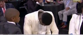 New Orleans Pelicans select Zion Williamson with 1st pick in 2019 NBA draft and he looked unhappy 6-20-19