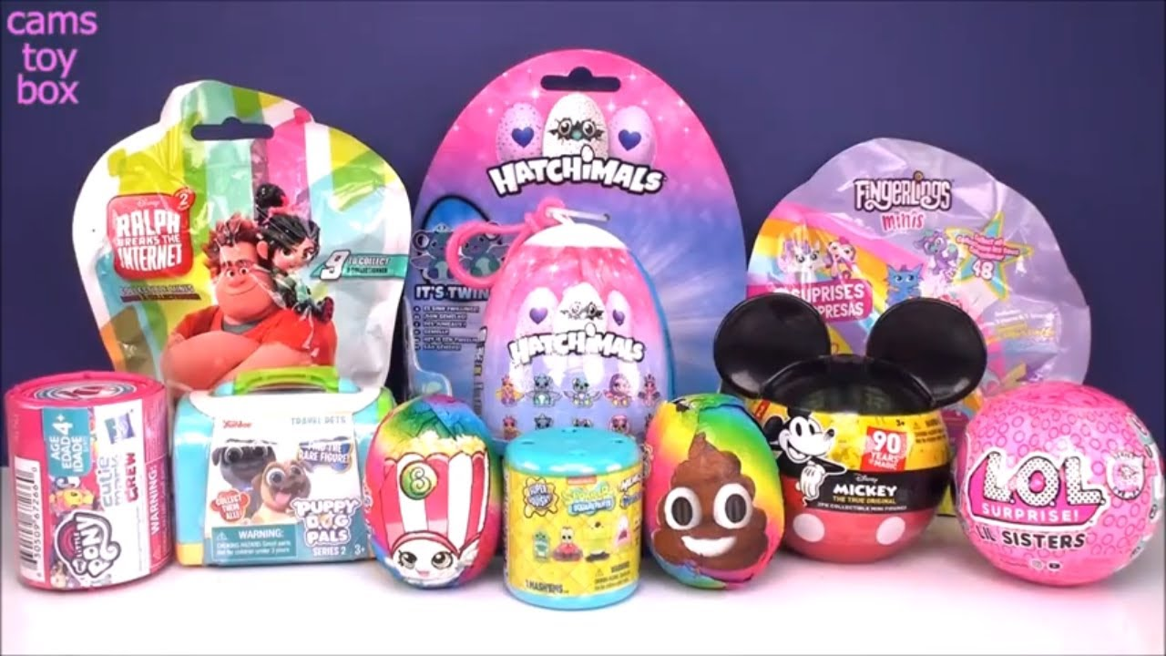 LOL Puppy Dog Pals Mickey Mouse SpongeBob Shopkins Hatchimals Fingerlings Toys Unboxing