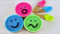 3 Color Kinect Sand Ice Cream Cups Trolls Kinder Joy Toys Surprise