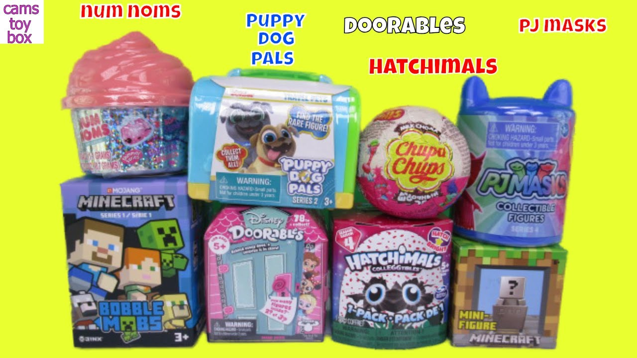 -toys Unboxing Num NOMS Puppy Dog Pals Doorables Hatchimals PJ MASKS Surprise Toys