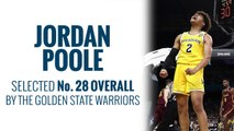 Warriors select Jordan Poole in 2019 NBA Draft