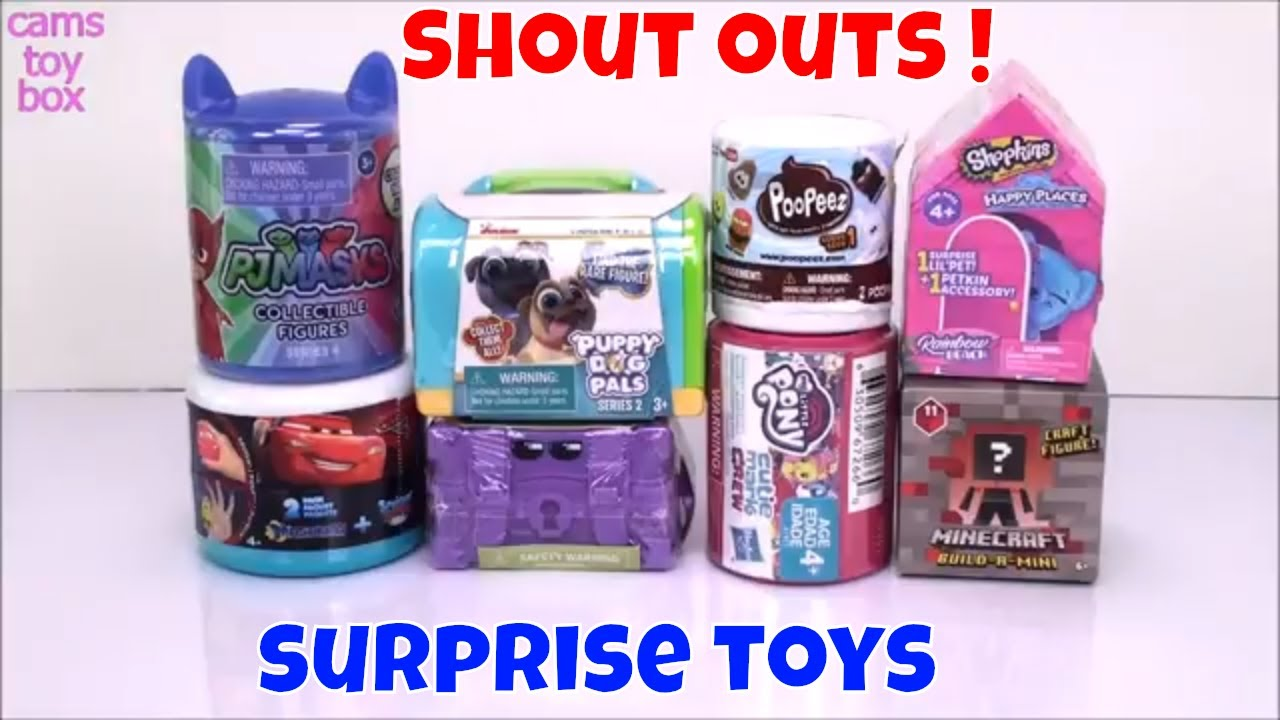 MLP PJ Masks PUPPY DOG PALS TOY SURPRISES Unboxing Shopkins Rainbow Beach TOYS