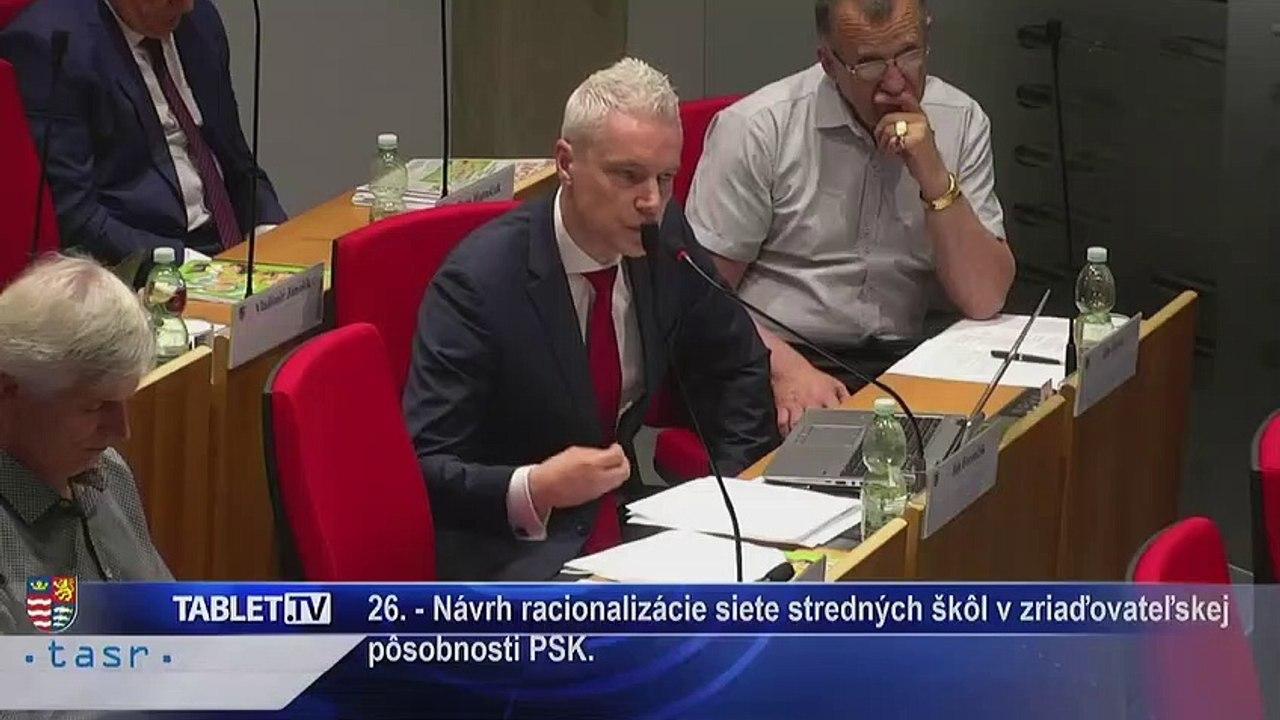 PREŠOV-PSK 14: Záznam zasadnutia Zastupiteľstva Prešovského samosprávneho kraja (PSK)