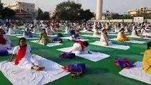5th International Yoga Day from K K Hakku Stadium