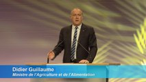 M. Didier Guillaume, Ministre de l'Agriculture et l'Alimentation, intervient à l'Assemblée Générale de la CCMSA 2019