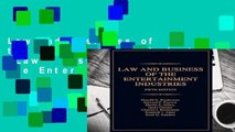 Law and Business of the Entertainment Industries (Law   Business of the Entertainment Industries)