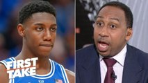 The Knicks working out Coby White means they aren't sold on RJ Barrett – Stephen A. - First Take