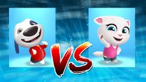 My Talking Tom vs My Talking Angela — Talking Tom Gold Run — Cute Puppy and Cats