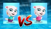 Neon Angela vs My Talking Angela — Talking Tom Gold Run — Cute Puppy and Cats