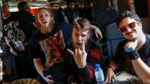 A bord du train spécial pour le Hellfest