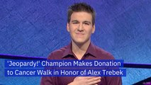 James Holzhauer Donates In Honor of Alex Trebek