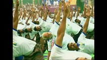 Watch: India PM Modi leads 25,000 yoga devotees for International Yoga Day