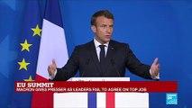 "EU summit: ""No concensus on EU presidency"", says Macron"