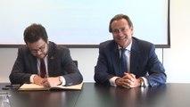 Aragonès se reúne con el presidente del Puerto de Barcelona