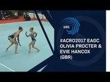 Olivia PROCTER & Evie HANCOX (GBR) - 2017 European Champions 12 - 18 women's pair