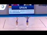 Maria ESTEFANO & Vicente GIRONA (ESP) - 2017 Aerobics Europeans, junior mixed pair final