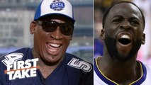 Draymond would be 'eating out of my hands' - Dennis Rodman picks Bulls over Warriors - First Take