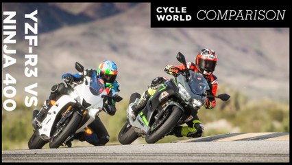 Yamaha YZF-R3 vs. Kawasaki Ninja 400 Comparison