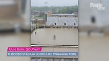 Flooding in Western Michigan Causes College Football Stadium to Look Like a Swimming Pool