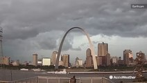 Timelapse of storm passing through downtown St. Louis
