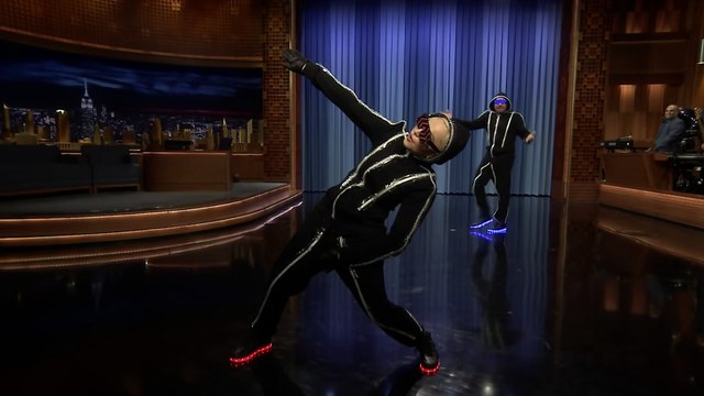 Neon Dance Battle with Madonna Jimmy Fallon