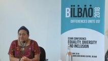 La premio Nobel de la Paz Rigoberta Menchú