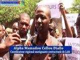 Manifestation des enseignants contractuels à Labé contre les manoeuvres du ministre Mory Sangaré